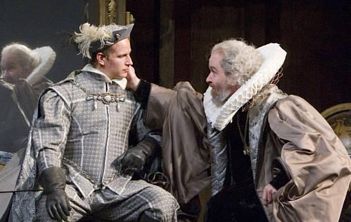 Corey Sorenson and Charles Janasz in Hamlet at the Old Globe in 2007. (Photo by Craig Schwartz)